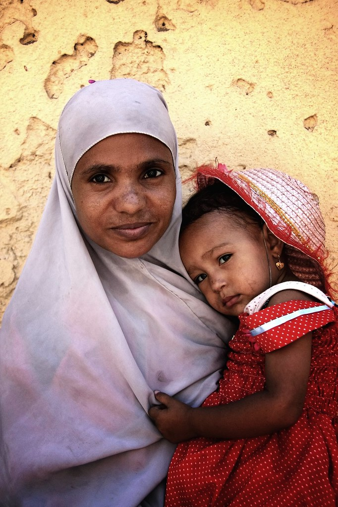 An Egyptian Mother & Her Child