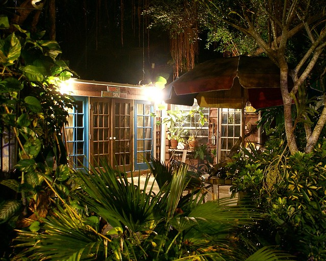 Island Shed & Havana Cabana At Night