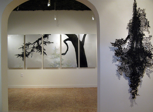 "Yvette Molina ""Bough + Night Tree (Ashes)"" Installation Shot"