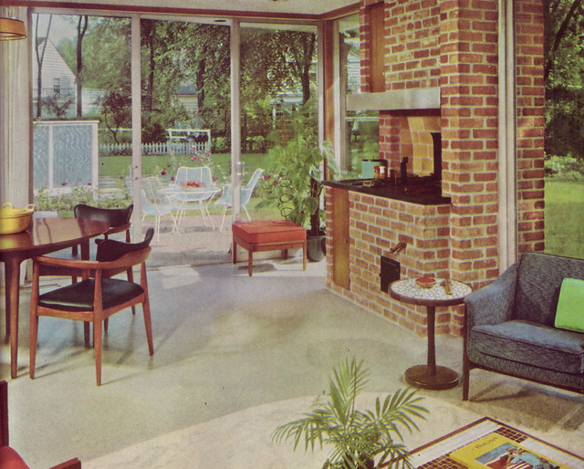 Indoor bbq flickr photo sharing for Home decor 1970s