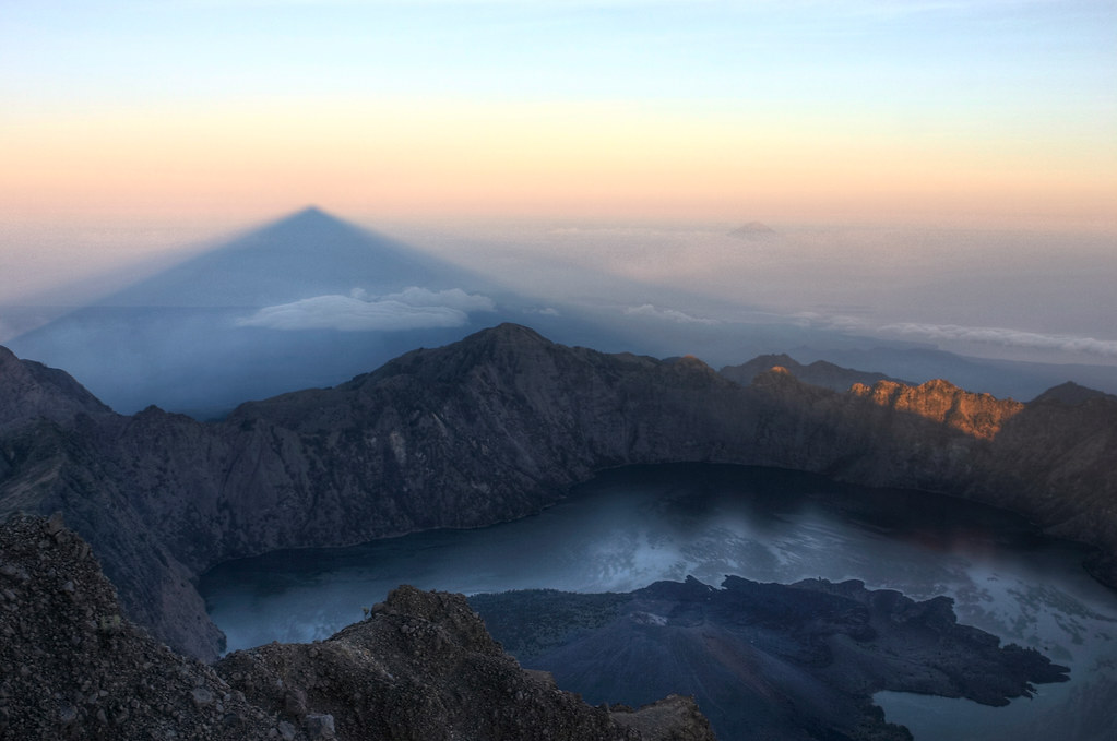 Top of the Rinjani mount