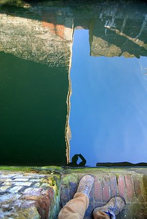 Me - reflected in canal lock water