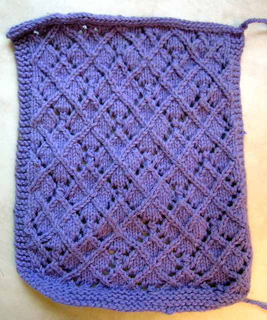 Knitting Stitch Orientation : Lace