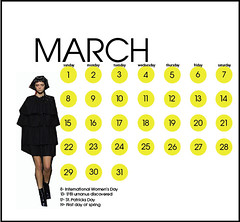 Fashion Calendar Typographic Calendar From Graphic Design Flickr