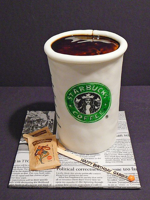 Gabbie's Starbucks Birthday Cake | anna.dreemkaggs@gmail.com ...