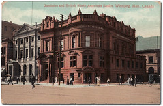 Dominion Bank, at the southwest corner of Main Street and McDermot Avenue, circa 1912