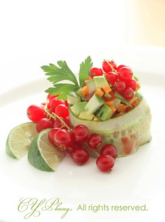 mixed veggie salad in cucumber ring-10-5600 copy