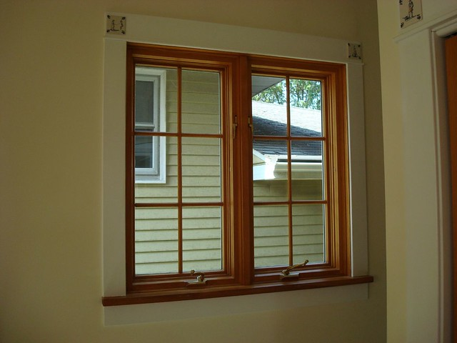 Installed pella double casement window on benton flickr for Pella casement window screens