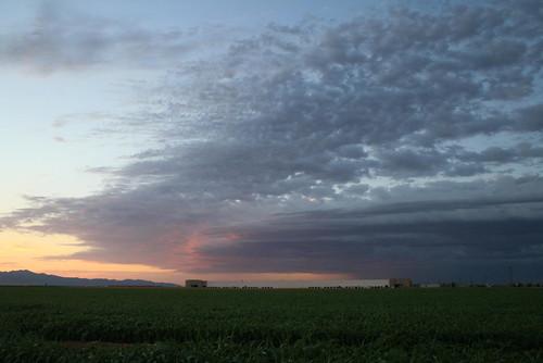 sunset arizona phoenix clouds