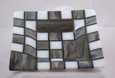 Checkmate, Handmade Fused Glass Dish