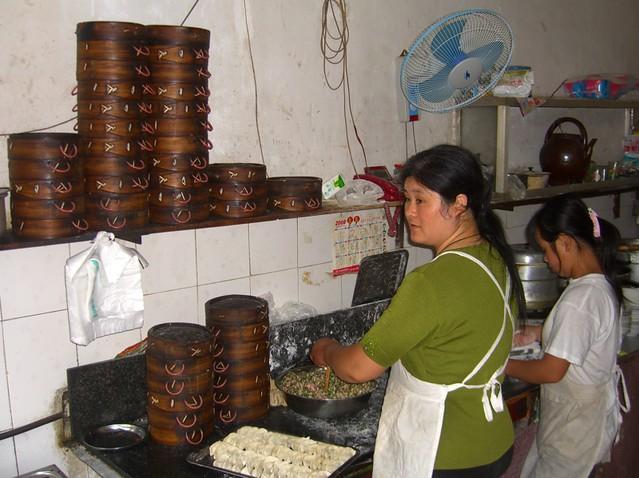 Mother and Daughter Making Dumplings - Kaili, China