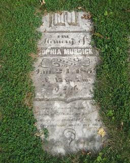 Sophia Murdick - buried 1859 at the Old Springfield Cemetery, South Dorchester, Elgin, Ontario Canada