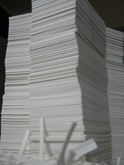 triplet towers of paper