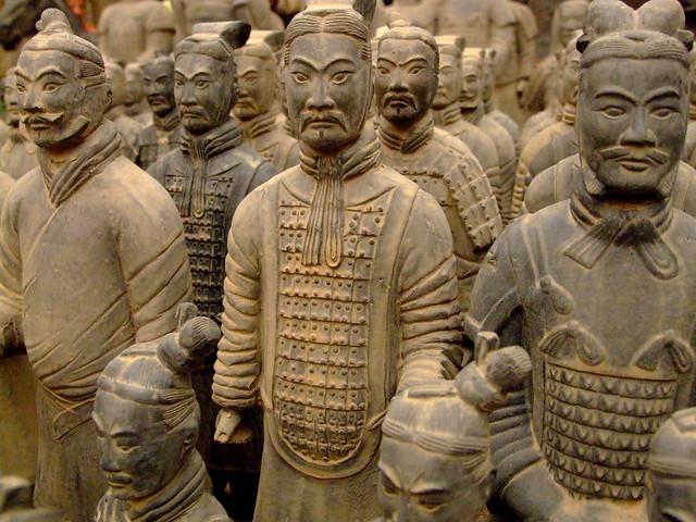 Resultado de imagem para exercito de terracota em xi'an china