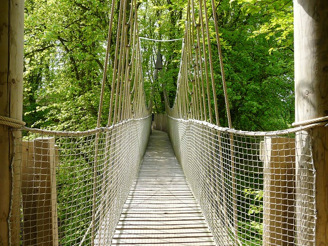 Alnwick Gardens Rope Bridge