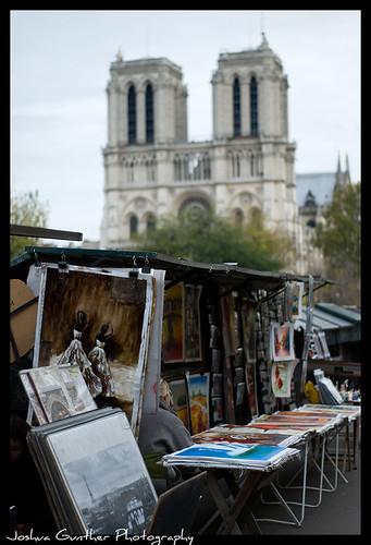 Notre Dame Street Art Sellers