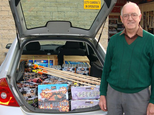 A real Epic Car Load Of Fireworks