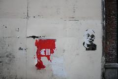 Dalaï Lama' Stencil in the streets of Lille.