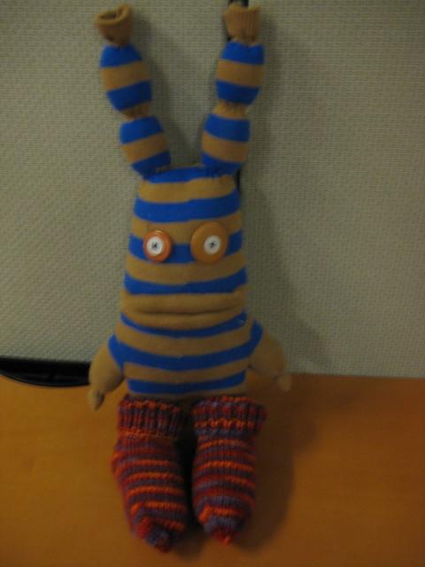 Charlie's new socks