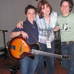 Erin McKeown and Allison Miller at WFUV with Claudia Marshall