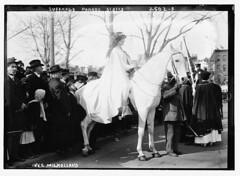 Suffrage parade, Inez Milholland  (LOC)
