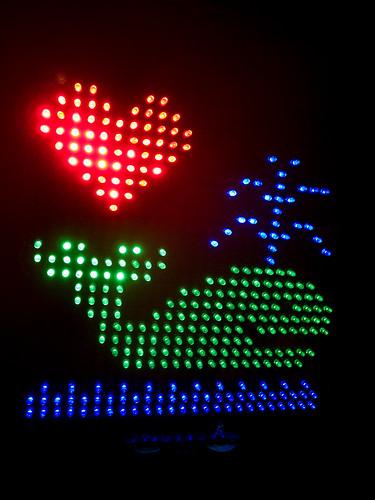 LED Whale Love