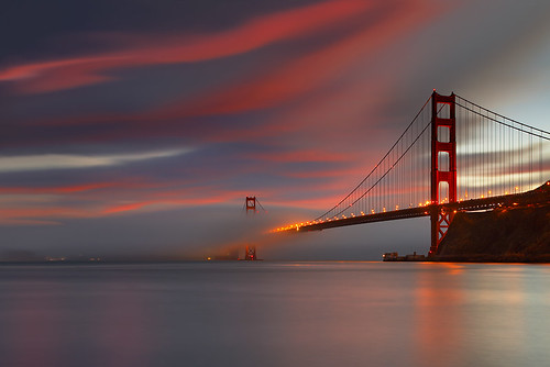 sf sanfrancisco california longexposure travel bridge sunset red sea wallpaper vacation sky usa cloud seascape fog landscape golden gate seascapes dusk marin goldengatebridge marincounty 5d canon5d sausalito suspensionbridge 1740l ogm ggb canon1740l landscapephotography infinestyle seascapephotography