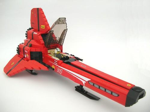 Ferrari Viper quarter by Lego Monster