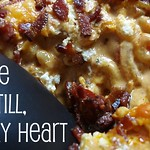 Chipotle Velveeta mac and cheese with bacon