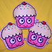new cupcake plush design, girly lashes!