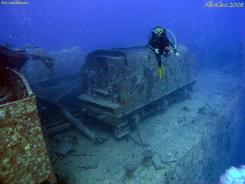 SS Thistlegorm - Mónica and one railway freight car