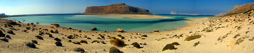 The beach in Balos (Crete)