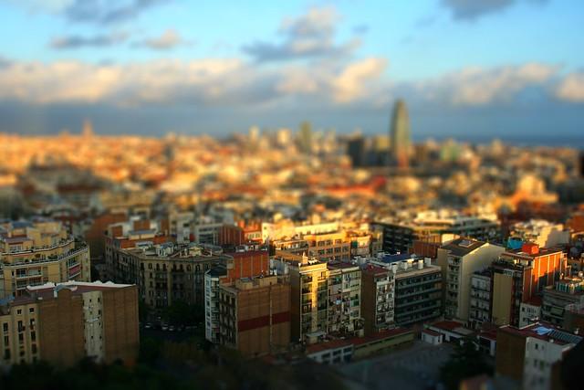 Tilt-shift Maker: Barcelona from the Sagrada Família