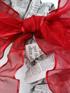 Christmas Decorations - DIY Newspaper Wreath