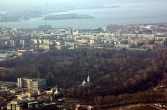 Вид на Смоленское кладбище
