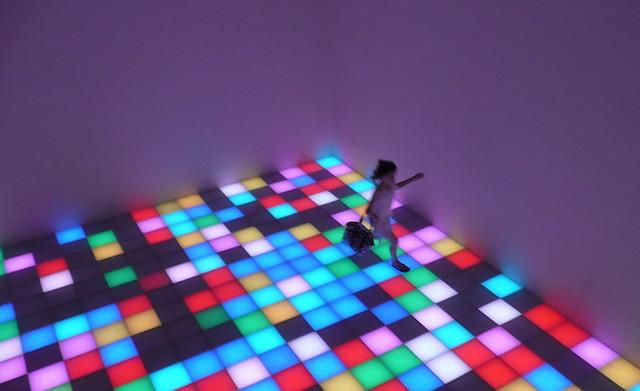 Dancing in the Guggenheim lights
