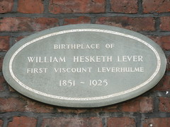 Photo of William Hesketh Lever grey plaque