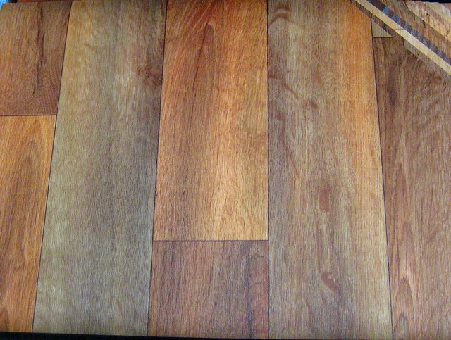 More wood like vinyl flickr photo sharing for Lino wood look flooring