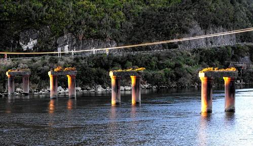 newzealand pillars sunsetlight greymouth greyriver peachofashot