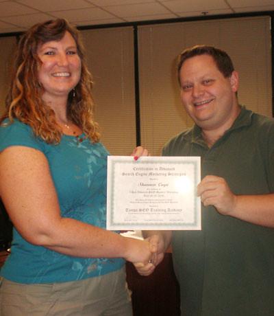 Shannon C. - Tampa SEO Training Academy Graduate