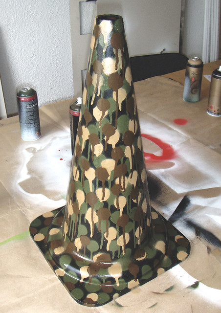 camouflage traffic cone 2004