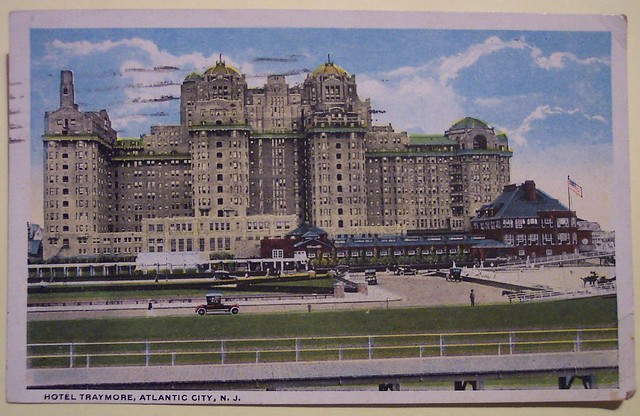Vintage Postcard, Hotel Traymore, Atlantic City, New Jersey