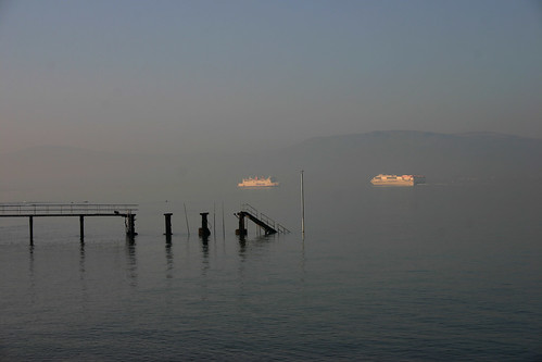 Ferries in the mist. Holywood, Co. Down