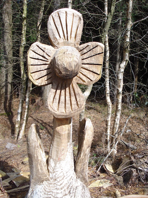 Chainsaw carved flower flickr photo sharing
