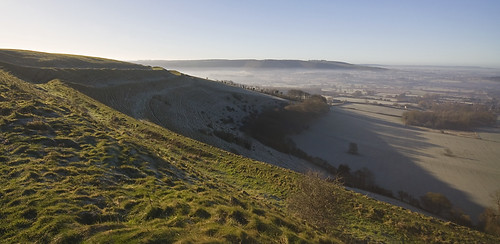 Hambledon Hill in winter