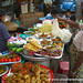 Burmese Food, Samosa and Street Food Stand - Rangoon, Burma (Yangon, Myanmar)