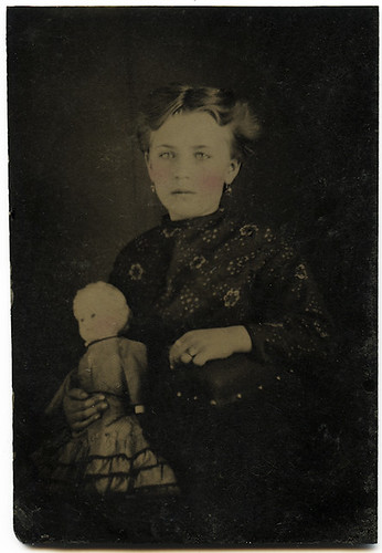 Tintype- Young Girl and Her Doll
