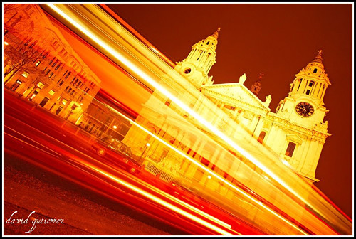 Catching light trails at St.Paul's London at Night...