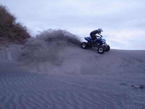 Riding atv on Sand Dune