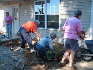 sept 2008, working at habitat house